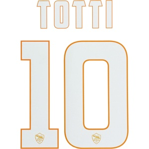 2014-15 Roma White Name Set Totti #10 (Junior)