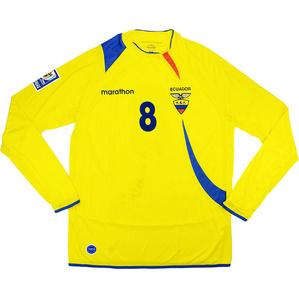 2007-09 Ecuador Match Worn Home L/S Shirt #8 (Méndez)