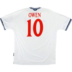 1999-01 England Home Shirt Owen #10 (Very Good) L