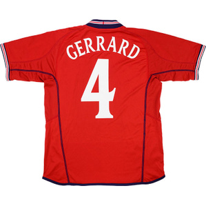 2002-04 England Away Shirt Gerrard #4 (Excellent) XL