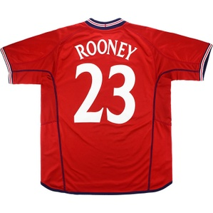 2002-04 England Away Shirt Rooney #23 (Excellent) XL