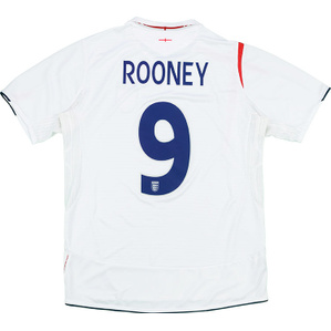 2005-07 England Home Shirt Rooney #9 (Good) XL.Boys