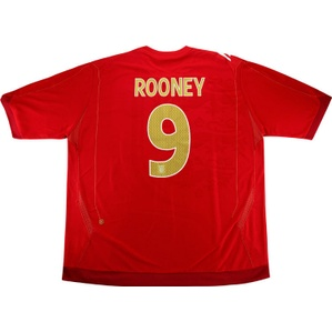2006-08 England Away Shirt Rooney #9 *w/Tags* 3XL