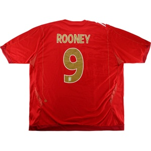 2006-08 England Away Shirt Rooney #9 (Excellent) 3XL