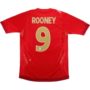 2006-08 England Away Shirt Rooney #9 (Good) XL