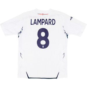 2007-09 England Home Shirt Lampard #8 (Very Good) XL.Boys