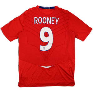2008-10 England Away Shirt Rooney #9 (Very Good) XL