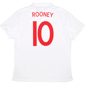 2010 England Home Shirt Rooney #10 (Good) XL