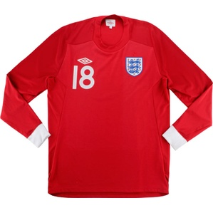 2010 England U-17 Match Issue Away L/S Shirt #18 (Casey) v Georgia