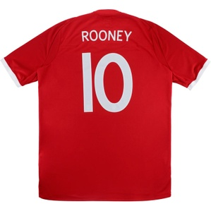 2010-11 England Away Shirt Rooney #10 (Very Good) 3XL