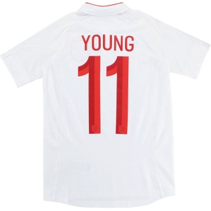2012 England Home 'v France' Shirt Young #11 *w/Tags* L.Boys