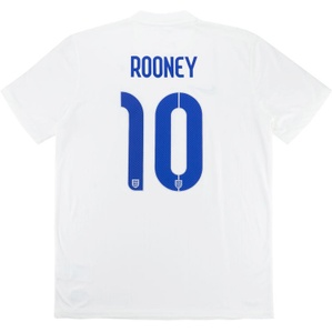 2014-15 England Home Shirt Rooney #10 (Good) XL.Boys