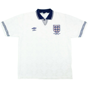 1990 England World Cup Home Shirt (Excellent) L
