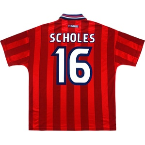 1997-99 England Away Shirt Scholes #16 (Excellent) XL