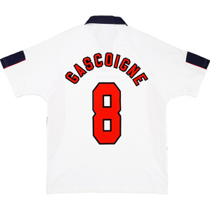 1997-98 England Home Shirt Gascoigne #8 (Very Good) XL