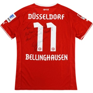 2013-14 Fortuna Dusseldorf Match Issue Home Shirt Bellinghausen #11