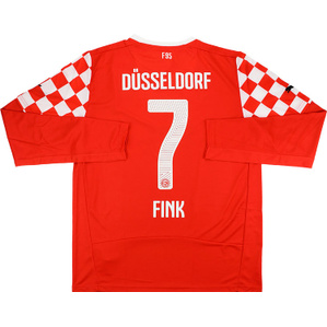 2014-15 Fortuna Dusseldorf Home L/S Shirt Fink #7 *w/Tags*
