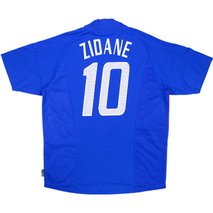 2002-04 France Home Shirt Zidane #10 (Excellent) L