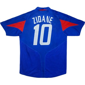 2004-06 France Home Shirt Zidane #10 (Excellent) XL