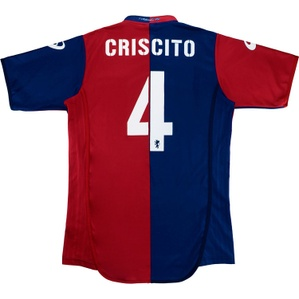 2009-10 Genoa Home Shirt Criscito #4 (Excellent) XL
