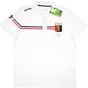 2012-13 Genoa Lotto White Polo T-shirt *BNIB* S
