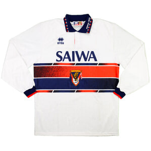 1993-94 Genoa Match Worn Away L/S Shirt #4 (Vink) v Foggia