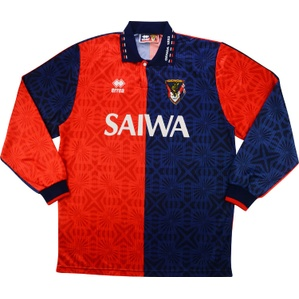 1993-94 Genoa Match Issue Jeremy Goss Testimonial Home L/S Shirt #16 (v Norwich)