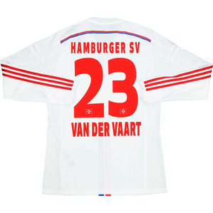 2014-15 Hamburg Player Issue Adizero Home L/S Shirt van der Vaart #23 *w/Tags*