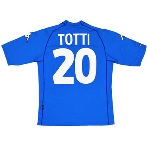 2000-01 Italy Home Shirt Totti #20 (Very Good) XL