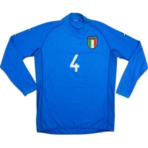 2002 Italy Match Issue Home L/S Shirt #4