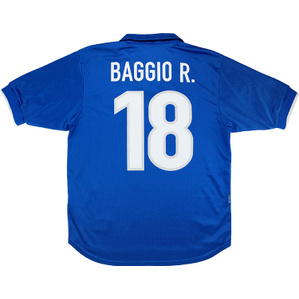 1997-98 Italy Home Shirt Baggio R. #18 (Very Good) XS