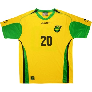 2006 Jamaica Match Worn Home Shirt #20 (Crawford) v England