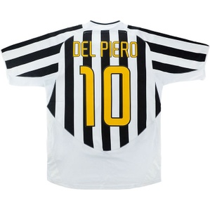 2003-04 Juventus Home Shirt Del Piero #10 *w/Tags* L