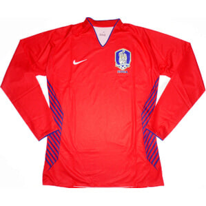 2006-08 South Korea Player Issue Home L/S Shirt *As New* 2XL