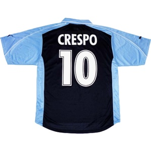 2001-02 Lazio European Away Shirt Crespo #10 *w/Tags* L