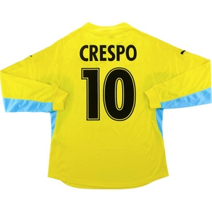 2001-02 Lazio Player Issue Away L/S Shirt Crespo #10 *w/Tags* XL