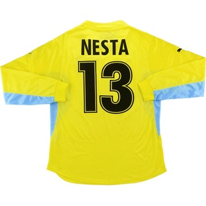 2001-02 Lazio Player Issue Away L/S Shirt Nesta #13 *w/Tags* XL