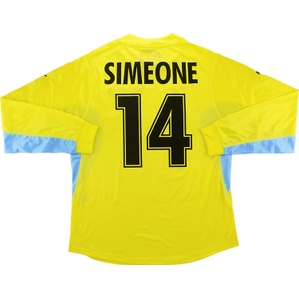 2001-02 Lazio Player Issue Away L/S Shirt Simeone #14 *w/Tags* XL