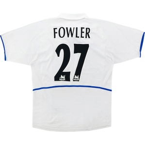 2002-03 Leeds United Home Shirt Fowler #27 (Good) M