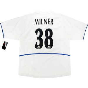 2002-03 Leeds United Home Shirt Milner #38 *w/Tags* XL