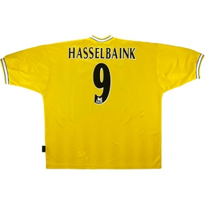 1997-99 Leeds United Third Shirt Hasselbaink #9 (Excellent) XXL