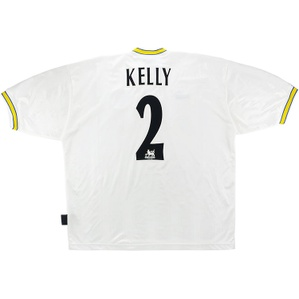 1996-98 Leeds United Home Shirt Kelly #2 (Very Good) XL