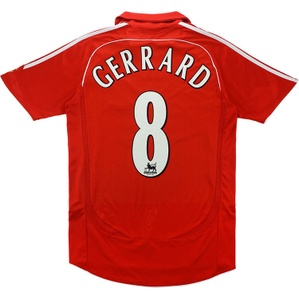 2006-08 Liverpool Home Shirt Gerrard #8 (Very Good) S