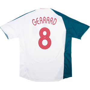 2006-07 Liverpool European Third Shirt Gerrard #8 (Excellent) M