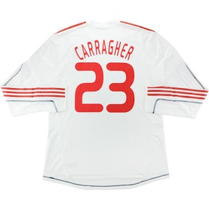 2009-10 Liverpool Player Issue Champions League Third L/S Shirt Carragher #23 *w/Tags* XXL
