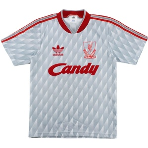 1989-91 Liverpool Away Shirt (Very Good) L.Boys