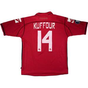 2006-07 Livorno Match Worn UEFA Cup Home Shirt Kuffour #14 (v FC Superfund)