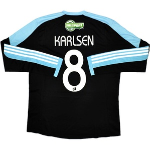 2012-13 Lyngby BK Match Issue Away L/S Shirt Karlsen #8