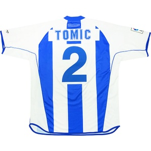 2002-03 Alaves Match Issue Home Shirt Tomic #2