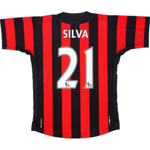2011-12 Manchester City Away Shirt Silva #21 (Very Good) XL